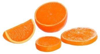 Sliced sweet oranges clipart