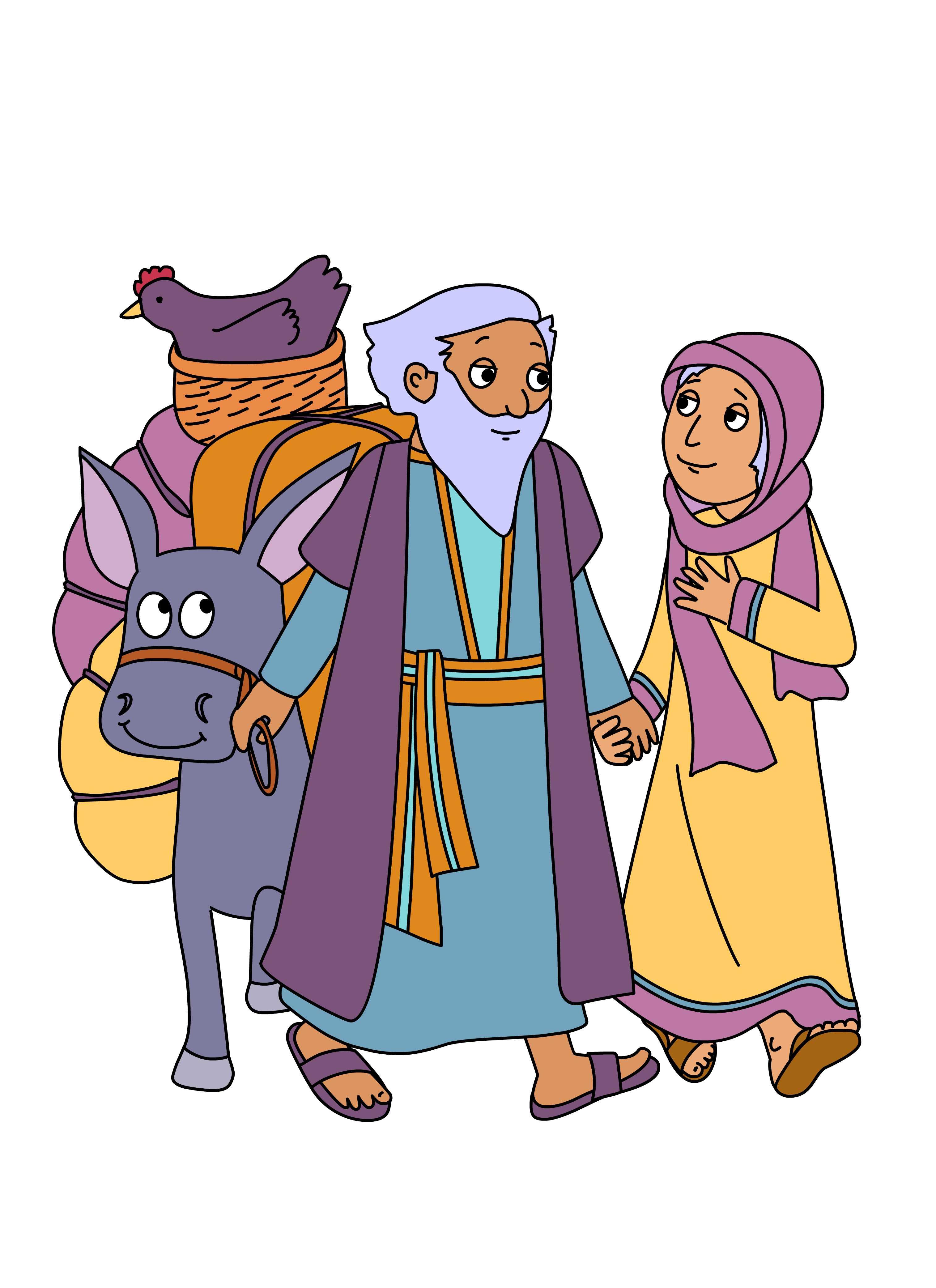 Abraham And Sarah Bible Clip Art N2 free image
