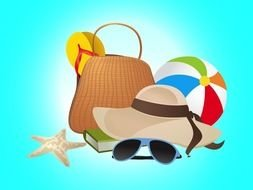 Colorful Beach Tools clipart