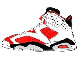 Michael Jordan Shoe drawing
