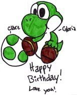 Happy Birthday Yoshi drawing
