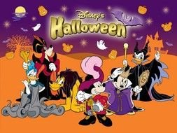 background for Halloween wit Disney characters