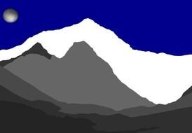 nice Mountain Silhouette drawing