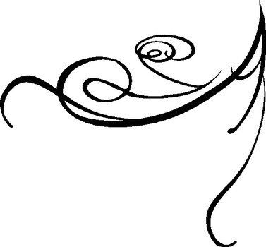 Black And White Wedding Swirl Clip Art