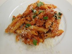 tomato paste with basil and parmesan