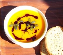 Soup with the pumpkin