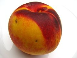 yellow red peach fruit