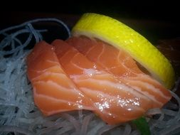 sushi sashimi japanese food salmon