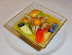fruit salad as a colorful dessert