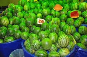 watermelon fruits in marketplace
