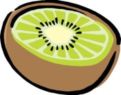 Healthy tasty kiwi clipart