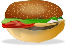 drawn hamburger with tomato
