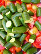 cucumber and tomato and paprika salad