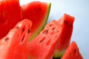 watermelon melon cut fruits sliced