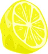 drawing half a lemon
