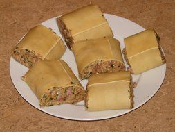 Delicious German maultaschen with Filling