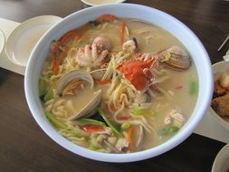 incredibly tasty seafood noodles