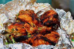 roasted chicken, indian fast food