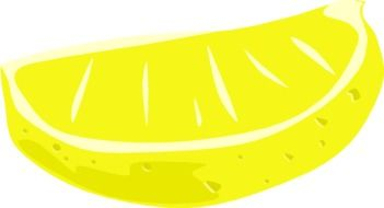 Bright lemon drawing