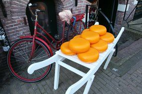 dutch yellow cheese circle dairy food