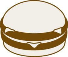 cheeseburger as a graphic illustration