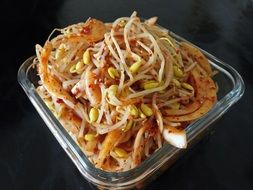 delicious sprouts side dish spicy food