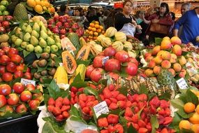 colorful fruits market