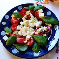 italian salad cheese onion feta tomatoes
