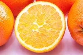 juicy sliced oranges citrus fruit