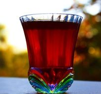 berry liquor in a glass