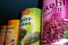 pickles sauerkraut cans canned food