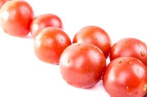 isolated ripe cherry tomatoes