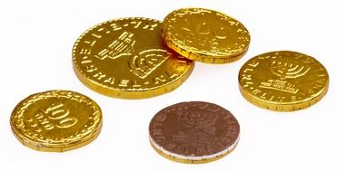 chocolate coins gold candy