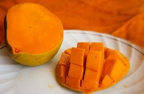 slices of exotic fruit mango