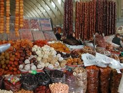 Dried fruits in a market