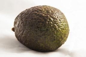 ripe avocado close up