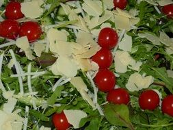 restaurant dinner food salad tomato cheese