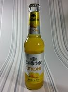 bottle of beer with lemon