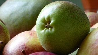 healthy and vitamins fruit pears and apples