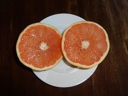 two pieces of blood orange