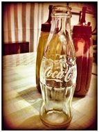 empty coca cola bottle