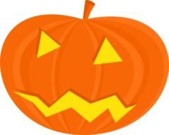 graphic image of a bright halloween pumpkin