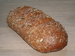 grain bread on a white surface