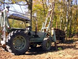 old tractor logging