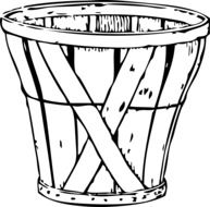 picture of empty wooden basket