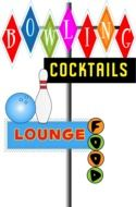 Bowling and lounge clipart