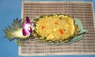 pineapple rice, thailand