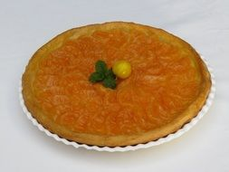 tangerine pie with custard