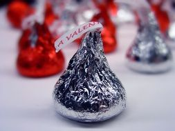 chocolate candy wrapped in foil