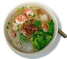 Asian soup with seafood